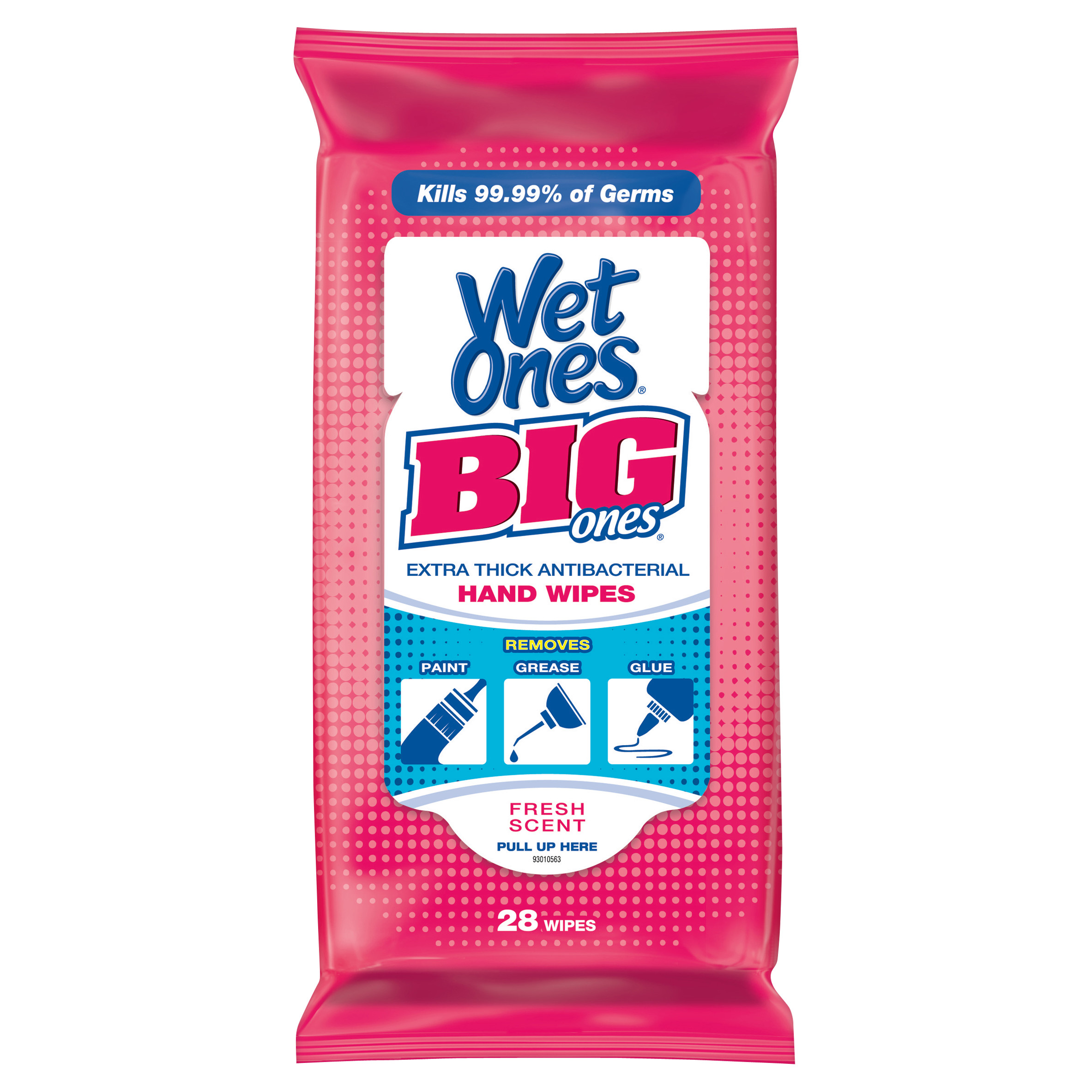 Wet Ones Big Ones Antibacterial Hand Wipes Travel Pack - 24 Count