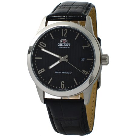Executive Howard FAC05006B0 Black Leather Band Men