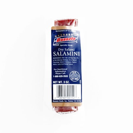 Busseto Mini Dry Salami  3 oz each (1 Item Per Order, not per case) Busseto Cured Salami