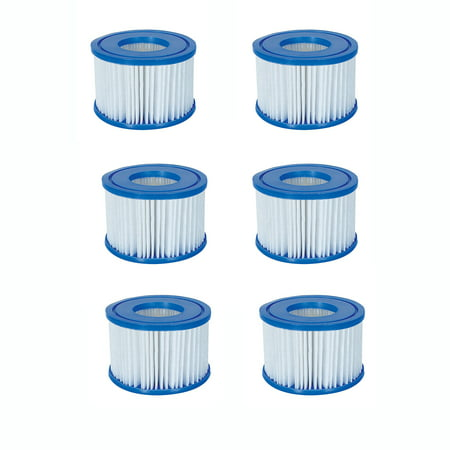 - Bestway Spa Filter Pump Replacement Cartridge Type VI SaluSpa Hot Tub (6 Pack)