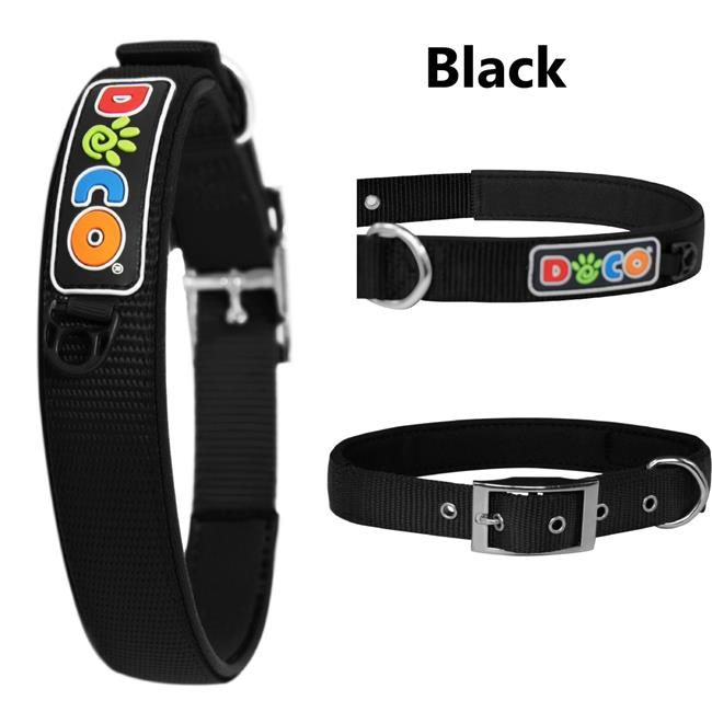 Doco DCSX2-01S Zinc Alloy Swivel Hook Dog Collar, Black - Small