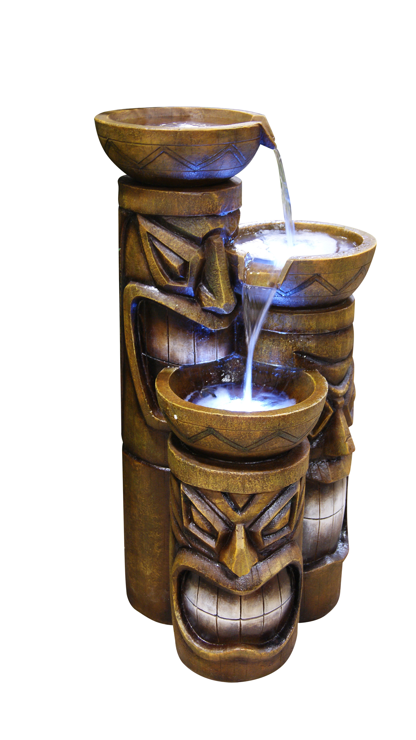 Tiki Fountain W  Led Lights by Fountains