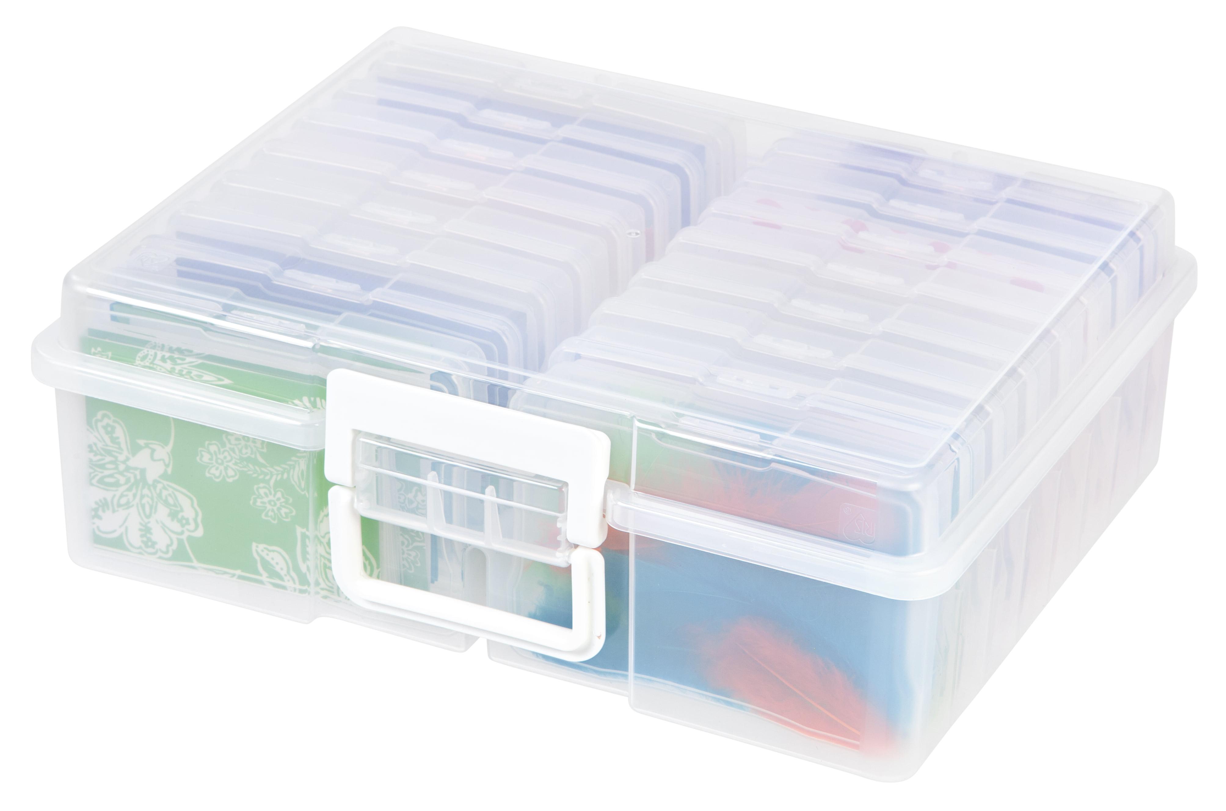 """IRIS 4"""" x 6"""" Photo and Craft Storage Box Set - 2pk"""