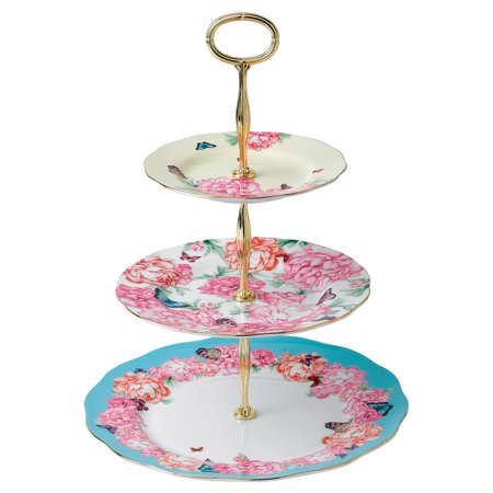 Royal Albert Devotion Gratitude Joy  Tier Cake Stand