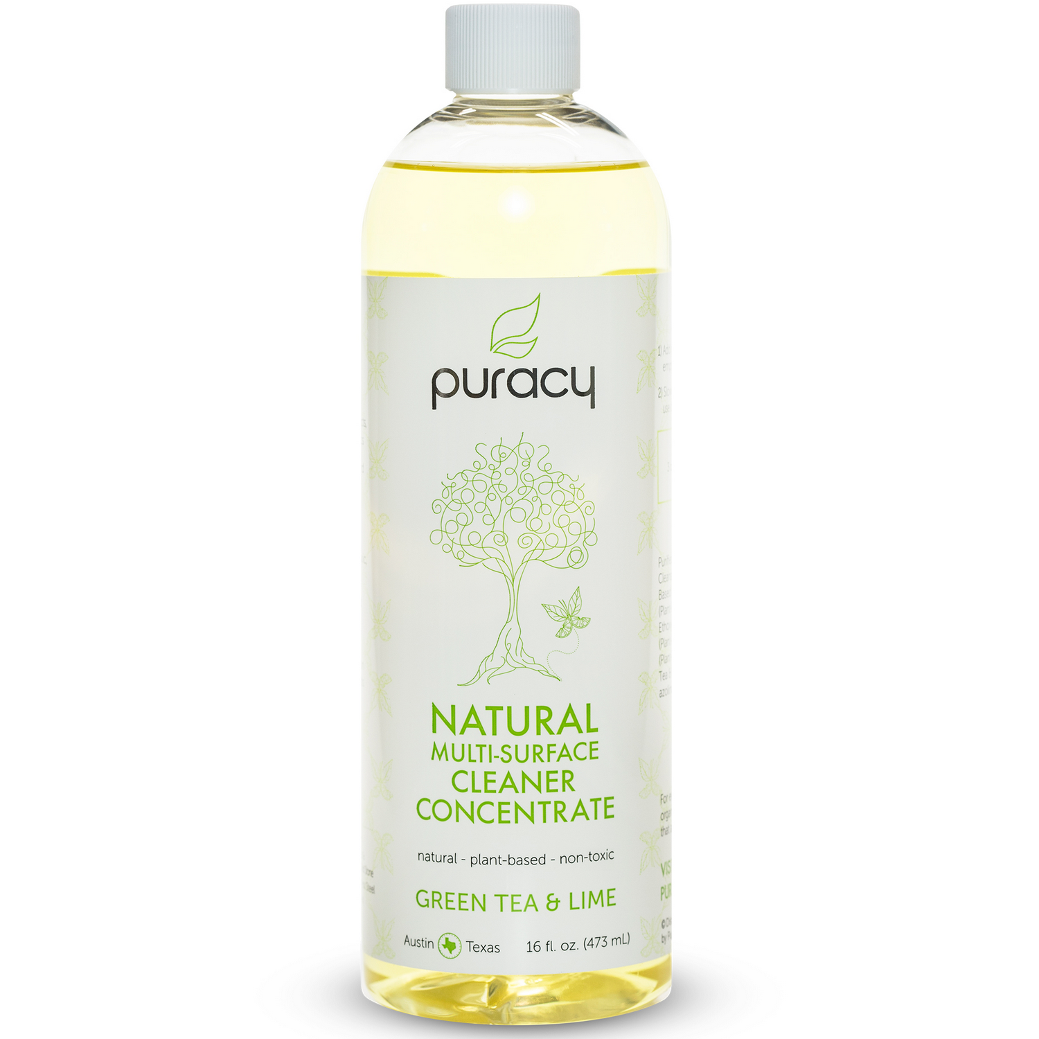Puracy Natural Multi-Surface Cleaner Concentrate - Green Tea & Lime