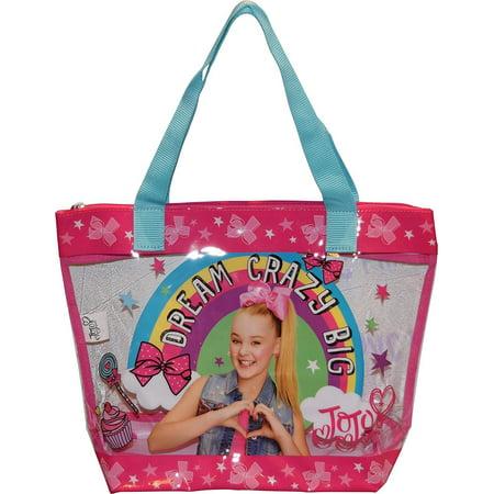 Nickelodeon Jojo Siwa Dream Crazy Big Large PVC Carry-All Tote (Slow Jo Nylon)