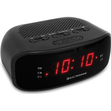 electrohome alarm clock radio with usb charging for smartphones tablets. Black Bedroom Furniture Sets. Home Design Ideas