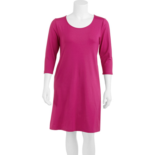 Smart & Sexy Women's Plus-Size Slimming 3/4 Sleeve Dress