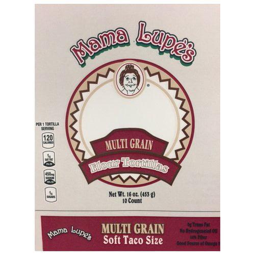 Mama Lupe's Multi Grain Flour Tortillas, 10 count, 16 oz