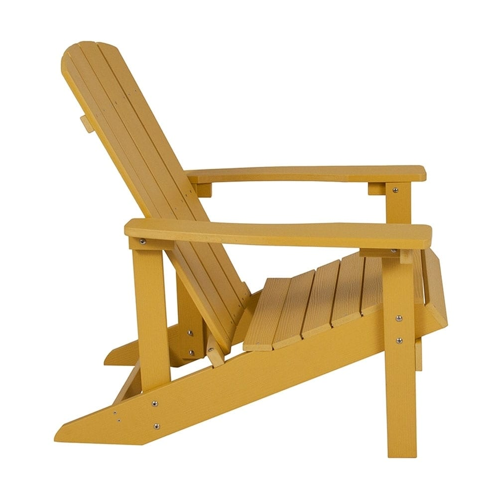 Superb Offex Cottage Style All Weather Adirondack Patio Chair In Yellow Faux Wood Download Free Architecture Designs Momecebritishbridgeorg