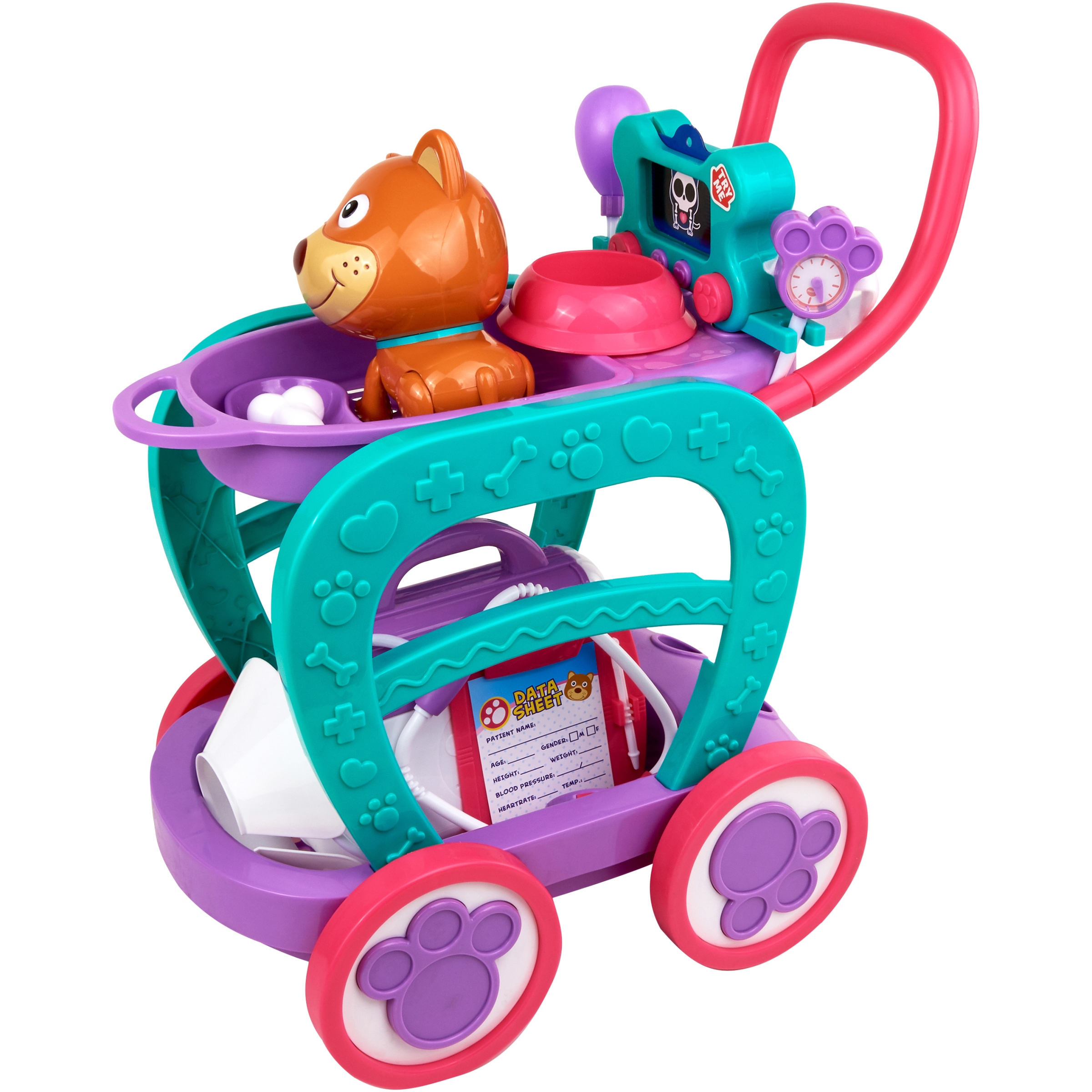 Kid Connection 24-Piece Light & Sound Veterinarian Cart Play Set