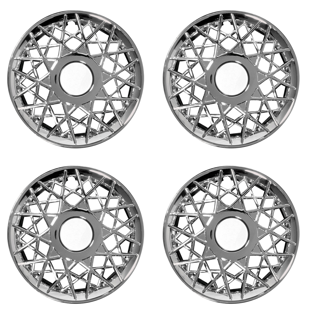 """OxGord 16"""" inch Chrome Wheel Covers for 1998-2002 Ford Crown Victoria - Set of 4"""