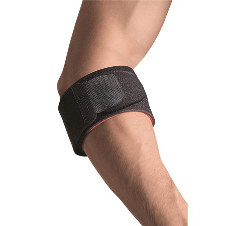 Sport Tennis Elbow Brace, One Size, Black, Helps in the prevention and treatment of medial-lateral epicondylitis (tennis elbow) By (Lateral And Medial Epicondylitis Of The Elbow)