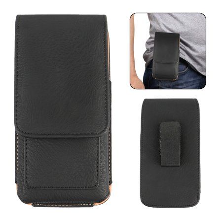 Leather Cell Phone Cover (Cell Phones Vertical Leather Case Pouch Cover Belt Clip Holster with Card Holder for 5.3