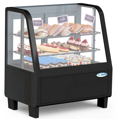 """Commercial 27"""" Countertop Refrigerated Display Case with LED Lighting - 3.6 cu. ft. Capacity"""