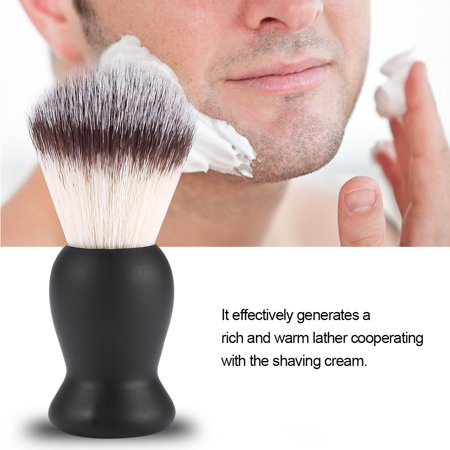 Dilwe Shaving Brush for Men Beard Mustache Trimming Brush Nylon Hair Barber Salon Shaven Tool, Professional Shaving Tool, Barber Shaving