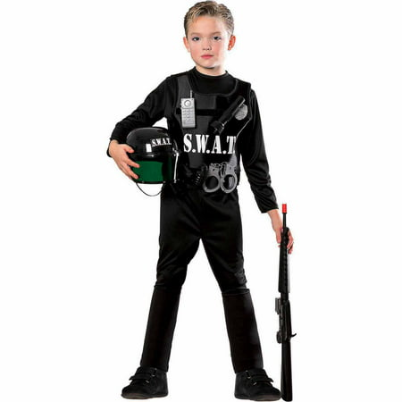 S.W.A.T. Team Child Halloween Costume - Black Dress Halloween Costume Diy