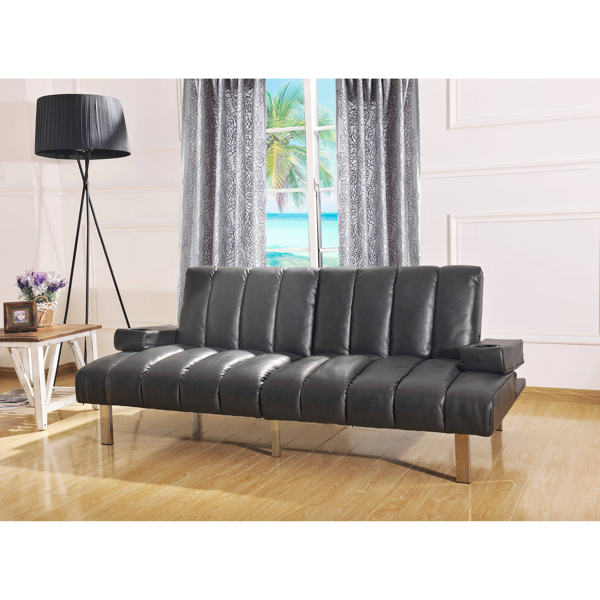 Mainstays Theater Futon, Black by
