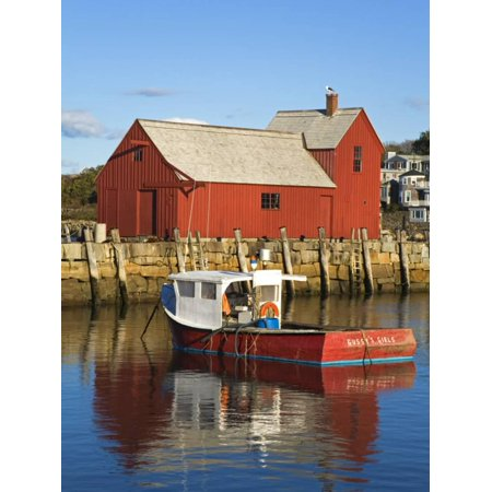 Boathouse in Rockport Harbor, Cape Ann, Greater Boston Area, Massachusetts, New England, USA Print Wall Art By Richard