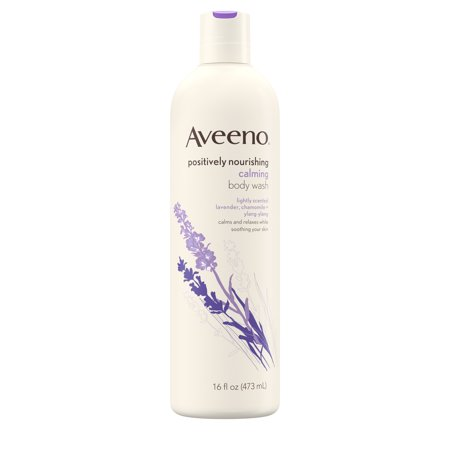 - Aveeno Positively Nourishing Calming Lavender Body Wash, 16 fl. oz