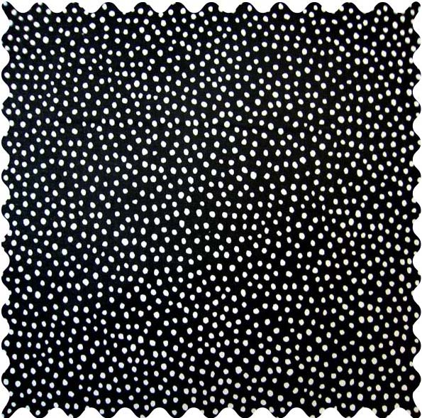 SheetWorld Fitted Crib / Toddler Sheet - Black Fun Dots Fabric - By The Yard