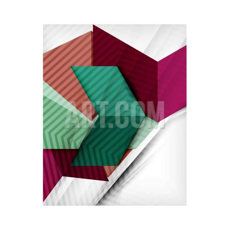 Geometrical Shape Abstract Background. for Business Background | Numbered Banners | Business Lines Print Wall Art By (Number Lines Print)