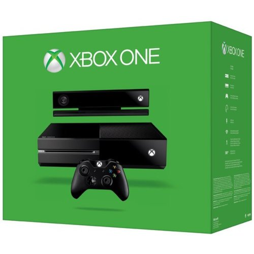 Microsoft Xbox One 500gb Console with Kinect, Black, 7UV-00015