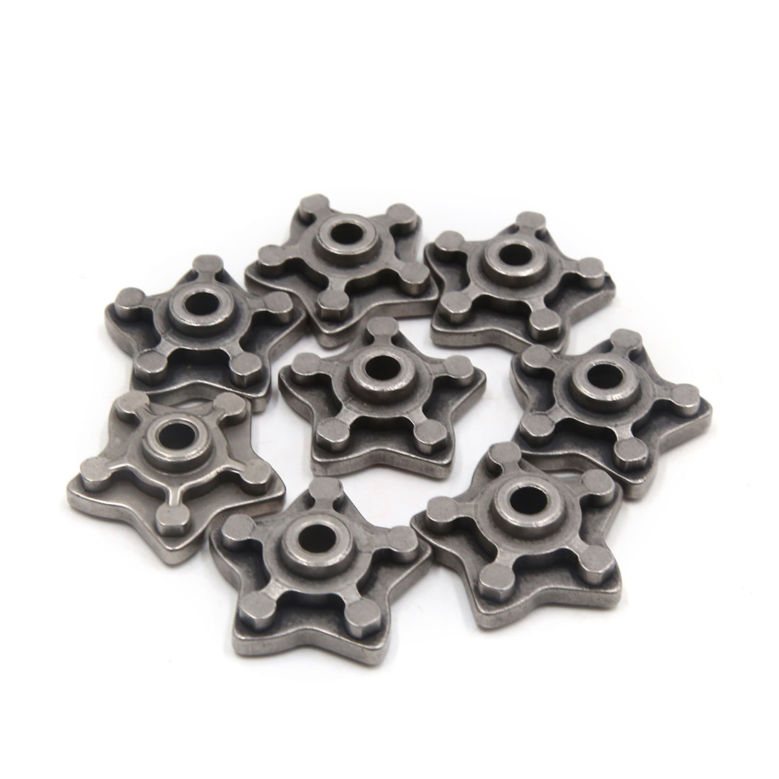 8 Pcs Gray Metal Star Shape Motorcycle Engine Speed Gear Shift Cam for CG125 - image 2 of 2