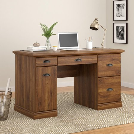 Better Homes and Gardens Computer Desk with Filing Drawers, Multiple Colors (200 Wood Computer)