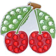 Bella Crystal Golf Ball Marker & Hat Clip - Cherries