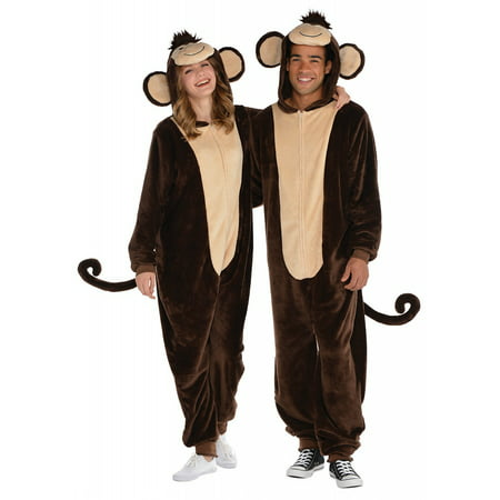 Monkey Zipster Adult Costume - L/XLarge - Womens Monkey Costume