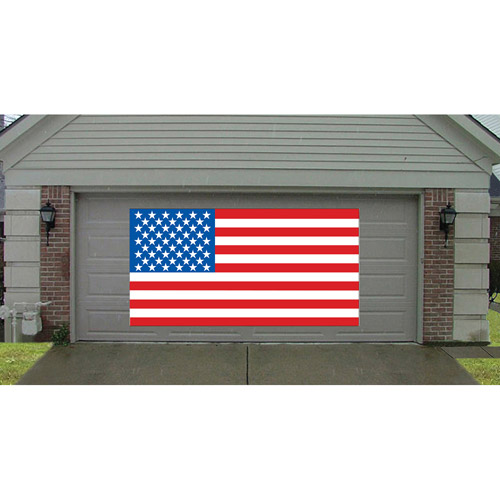 Giant US Flag Greeting Banner