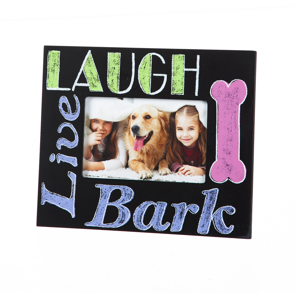 Live Laugh Bark Wood 4X6 Picture Frame