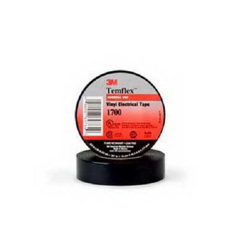 "10 Pack 3M Temflex 1700 Black 3//4/"" x 60/' General Use Vinyl Electrical Tape"
