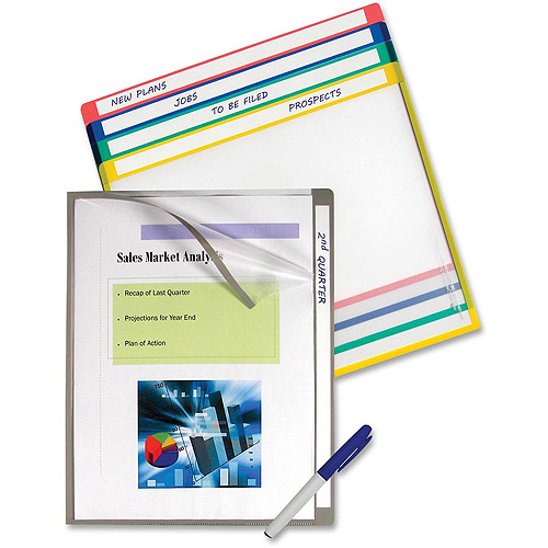 C-Line Write-On Color-Coded Project Folders