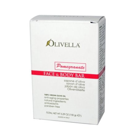 Olivella Face and Body Bar Pomegranate 5.29 oz