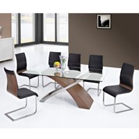 7 Pc Contemporary Dining Set