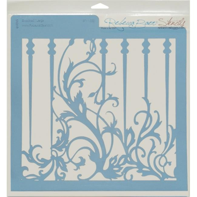 RB-LARGE-1222 Rebecca Baer Stencil - 11. 75 x 11. 75 inch, Entwined