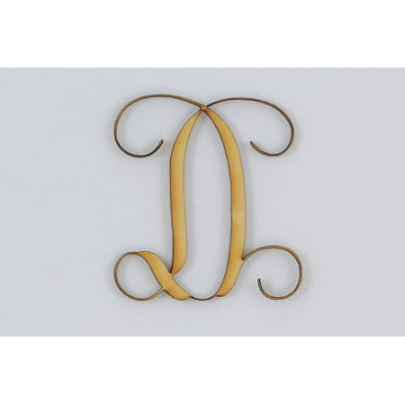 1 Pc, 5 Inch X 1/8 Inch Thick Wood Letters D In The Vine Font Great For Craft Project & Different Decor](Letter D Halloween Crafts)