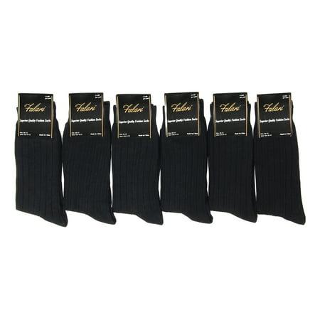 - Falari 6-Pack Black Men Dress Socks Size 10-13