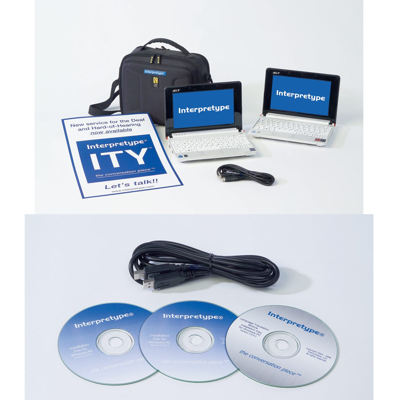 Interpretype Communicator for the Deaf with Language Translator by Maxiaids