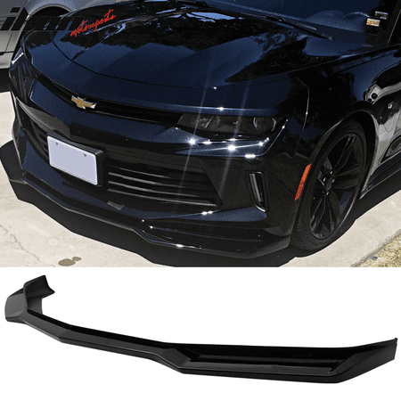 Fits 16-18 Chevy Camaro V6 2-Door ZL1 Style Front Bumper Lip PP Glossy (Paint Front Bumper)