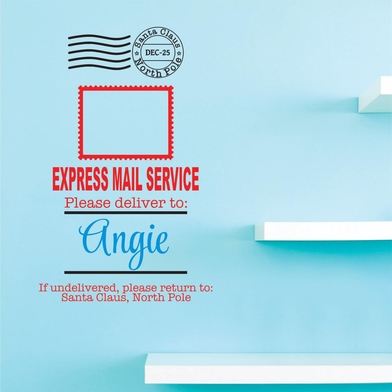 "Santa Claus Dec 25 North Pole Express Mail Service Please Deliver If Undelivered, Please Return To: Santa Claus, North Pole 20x40"" Color: Multi"