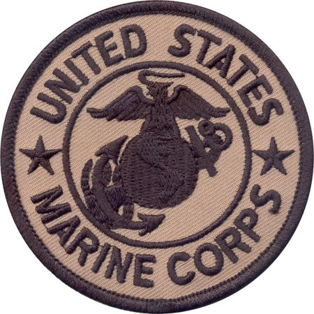 Coyote Brown - US MARINE CORPS Sew On Patch with USMC Emblem 3 in.' ()
