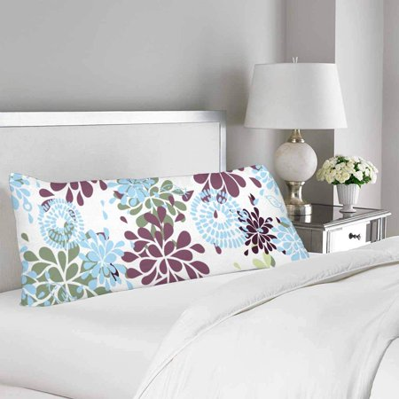 GCKG Abstract Beautiful Floral Body Pillow Covers Case Protector 20x60 inches - image 1 of 2