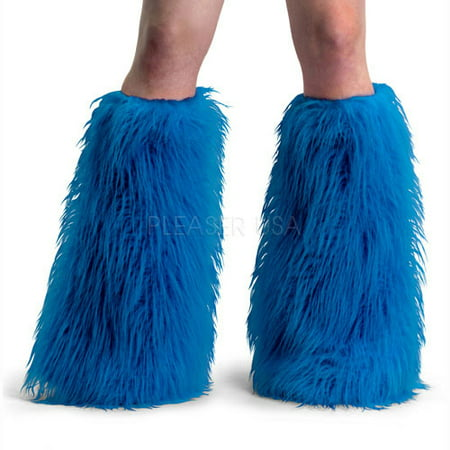 Womens Blue Faux Fur Boot Sleeves Halloween Costume Accessory