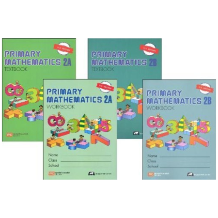 Math Text - Singapore Primary Mathematics Level 2 Kit (US Edition), Workbooks 2A and 2B, and Textbooks 2A and 2B