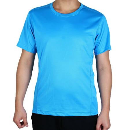 Men Short Sleeve Clothes Casual Wear Tee Cycling Biking Sports T-shirt Blue L (Cycling Kids Shirt)