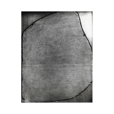 Display of the Historical Rosetta Stone Print Wall Art