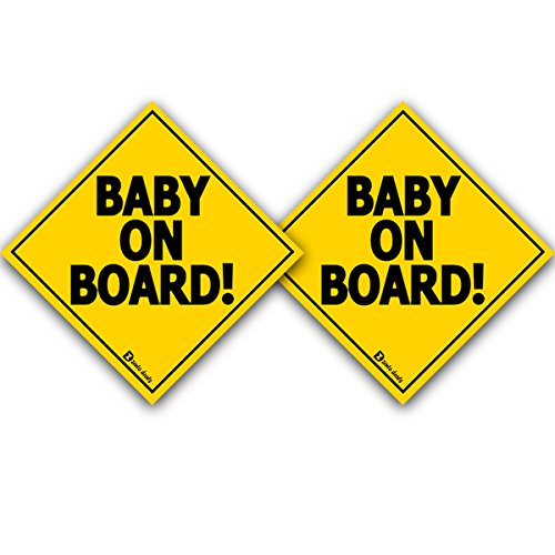 "Zento deals ""Baby On Board"" Vehicle Safety Sticker – 2Pack - 7"" Superior Quality"